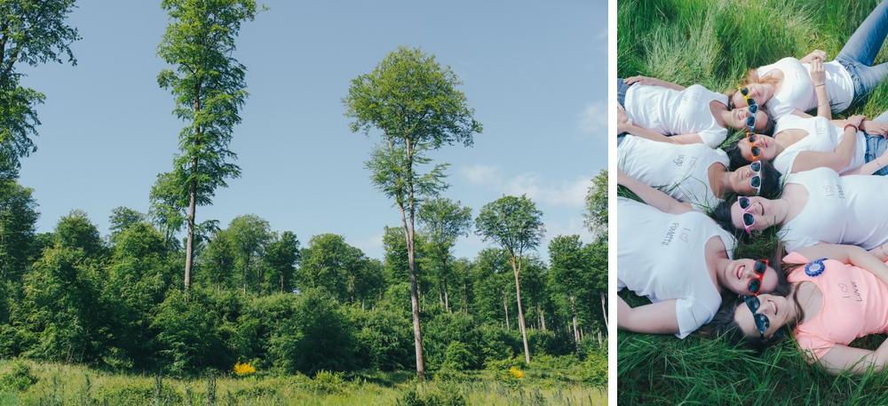 Shooting enterrement de vie de jeune fille (EVJF) en forêt d'Eawy par Emmanuelle Auzou photographe de mariage en Normandie et en France