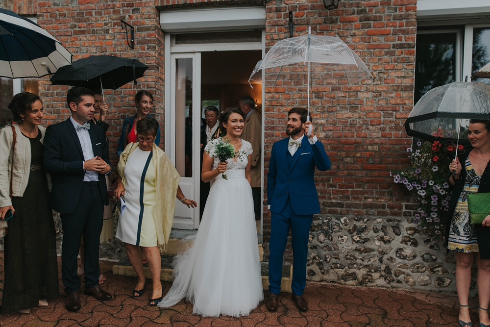 Mariage sous la pluie en Normandie - Rain Wedding in Normandy France