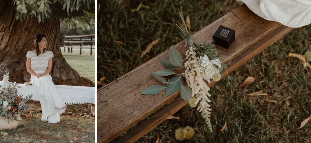 Un mariage laique dans le Calvados - Mariage sous tente nomade et décoration vintage - Les jolies alliances de Paulette à bicyclette