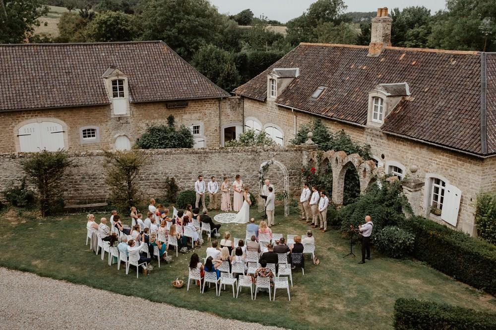 Mariage intime protestant au château du Denacre près de Boulogne sur Mer Côté d'Opale